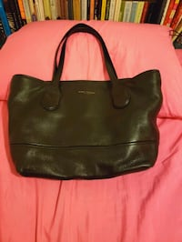 Marc jacob black leather tote bag New York