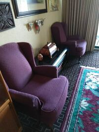 Two purple chairs