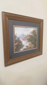 brown wooden framed painting of house Frederick, 21703