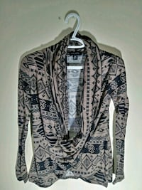 women's brown and black tribal plunging sweater Edmonton, T5T 3J7