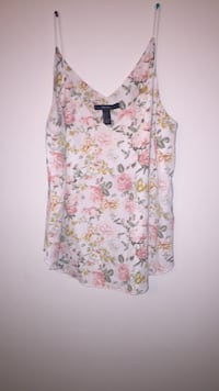 white and green floral sleeveless top McLean, 22102