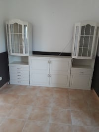 white wooden cabinet with mirror null