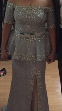 women's gray glittered sleeveless dress Toronto, M4V 1P7