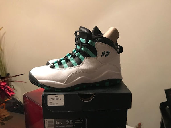 122ac4ba7ccf82 Used Air Jordan Retro 10 30th Anniversary youth size 5 for sale in ...