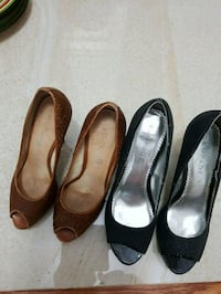 pair of black and brown leather shoes  Vaughan, L4J 9B5