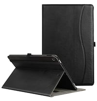 Folio Case for All Fire HD 10 Tablet (2017 Release, 7th Generation) - Smart Cover Slim Folding Stand Case with Auto Wake/Sleep for All Fire HD 10 Tablet,Black 纽约市, 11373