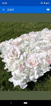 """48""""X 96"""" Artificial Silk Rose 3D Flower Wall Background Party Decor  Chicago, 60610"""