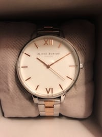 Olivia Burton Silver and Rose Gold Watch - NEW 536 km