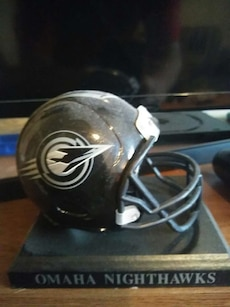 Omaha nighthawks collectible helmet