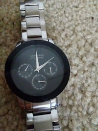 round black Michael Kors chronograph watch with silver link bracelet Normal, 61761