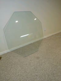 Octagon shaped glass table top