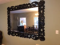 Large Oversized Mirror with Black Wooden Frame 2273 mi
