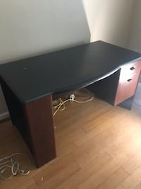 black wooden single pedestal desk Reston, 20191