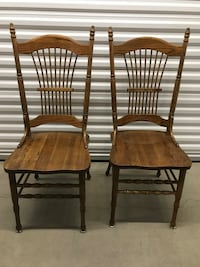 Vintage wooden chairs (pair)