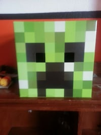 green, black, and white minecraft character head costume Moreno Valley, 92557