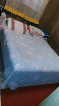 blue and white floral bed mattress..only 2 years . Waipahu, 96797