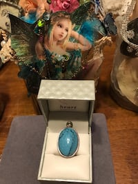 Pretty! Turquoise blue color Stone Pendant & other Stones