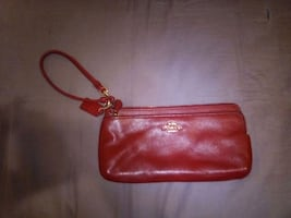 Coach Red Leather Handbag
