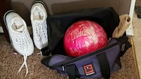 AMF Women's shoes, Brunswick bag and Pink ball Clearwater