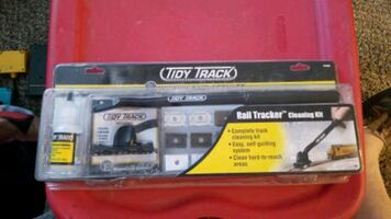 Tidy track cleaner for n ho and 0 scale rr track
