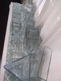 22 square glass vases.  Toronto, M1E 3N5