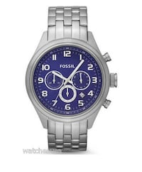 Asher by Fossil Men's Stainless Steel Chronograph Watch Blue Dial BQ1027 Toronto, M1S 0G3