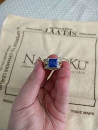 Silver lapis lazuli ring with 14k gold accent Alexandria, 22309