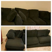 blue fabric 3-seat sofa and love seat Manassas, 20110