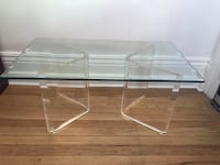 Glass & Lucite Coffee Table Toronto, M6H 1L2