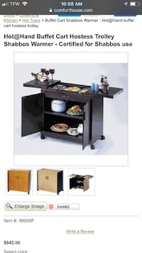 Stainless steel Food warming cart Costa Mesa, 92626