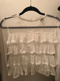 White lace forever21 shirt New York, 11221