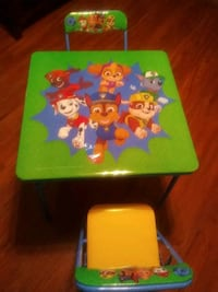 PAW PATROL Activity Table & Chair Set{Folding Table&2Chairs}