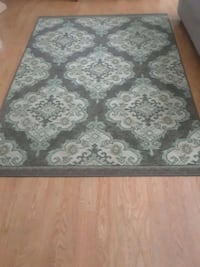 brown and white floral area rug Plainfield, 60544