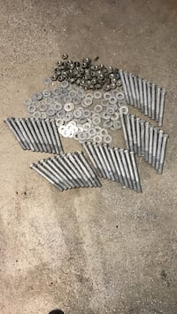 8 inch by three-quarter inch hot dip galvanized carriage bolts...