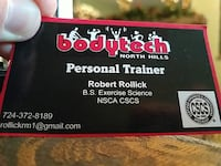 Personal Training services  Pittsburgh