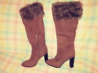 Knee high boots with the fur Courtright, N0N 1H0
