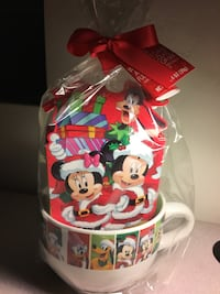 Disney Mug With Candy Canes and Chocolate Fudge Cocoa Mix