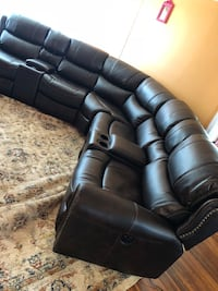 black leather 3-seat recliner sofa Brentwood, 11717