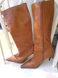 pair of brown leather knee-high boots Glendale, 85303