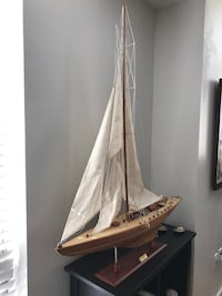 "Large model sailboat decor with its original box. Brand new as seen in last two pictures on original website. Original price is 170 USD, selling it because it didn't suit the apartment. Dimensions: 48.5"" x 39.5"" x 7"" Washington, 20008"