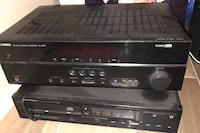 Electronics Yamaha receiver and  Pioneer disc player