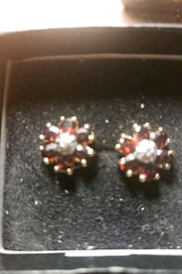 Gorgeous Garnet and Diamond earings  Vancouver, V6Z