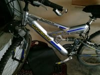 blue and gray full-suspension bike Paramount, 90723