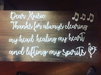 """Handmade Wooden Sign - custom made - 12"""" by 18"""" discount 2 purchased  New Westminster"""
