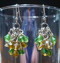 'Shades-of-Green' Grape Cluster earrings Midwest City