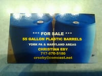 Price Reduced !! Plastic 55 gallon plastic barrels  Owings Mills, 21117