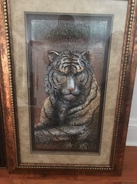 Tiger tridimensional picture frame Norfolk, 23503