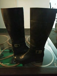 pair of black leather knee-high boots El Monte, 91732