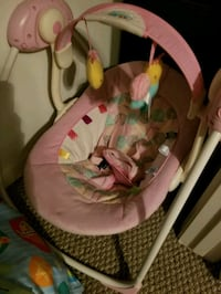 baby's pink and white swing chair Houston, 77002