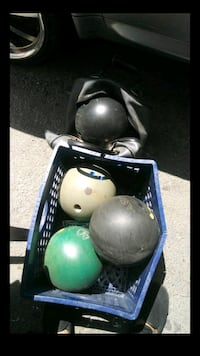 two black and green bowling balls Long Beach, 90805